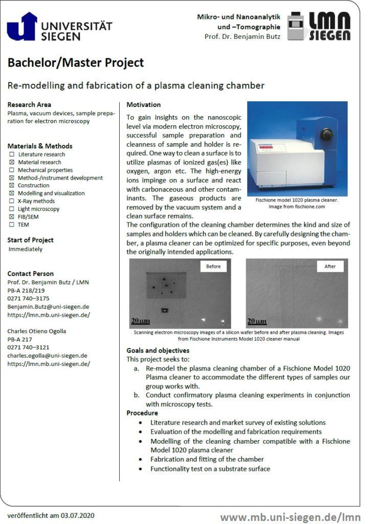 Plasma cleaner remodelling