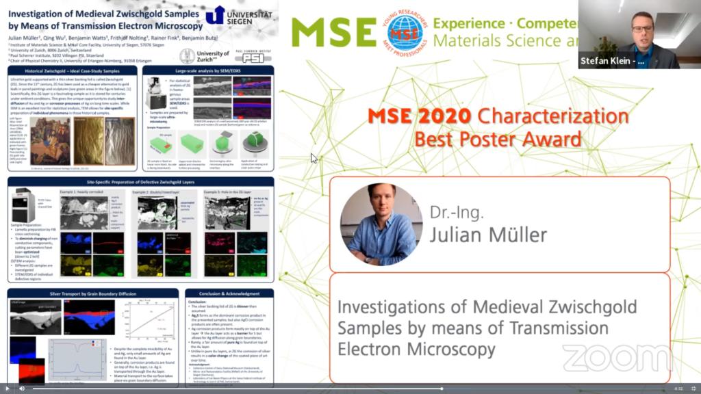 Julian Müller MSE Best Poster Award
