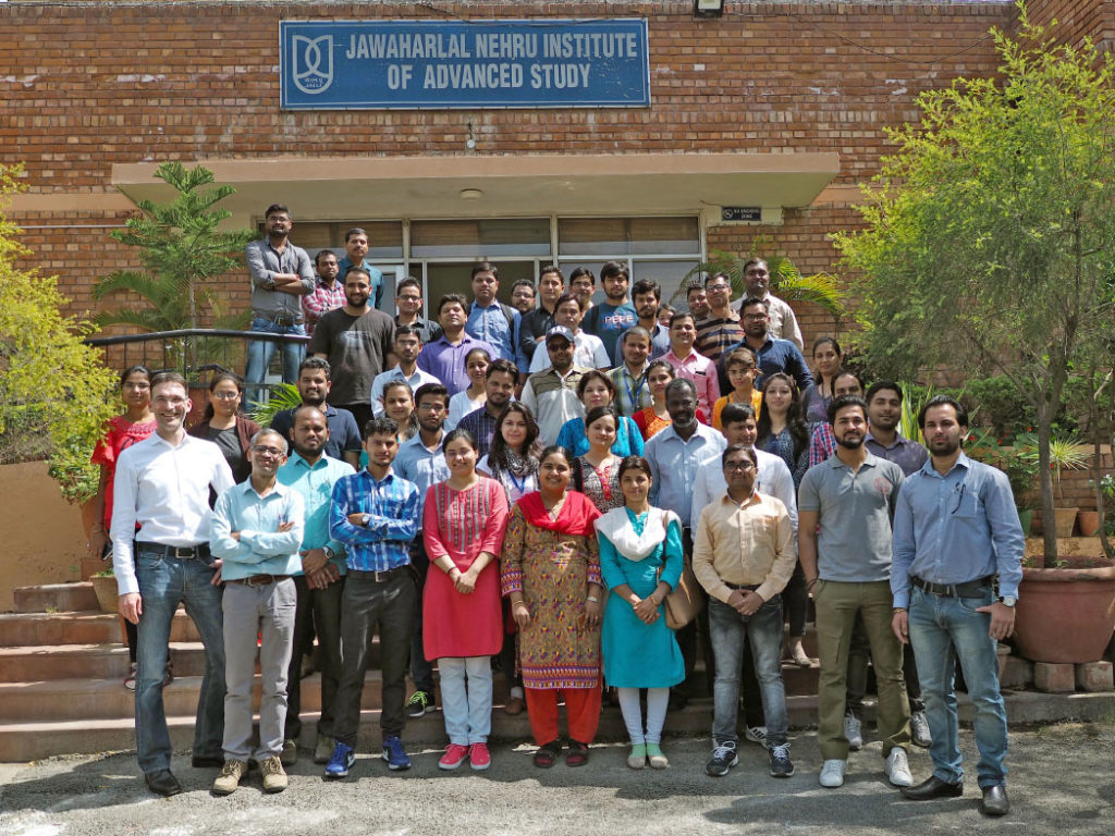 Benjamin Butz & Balaji Birajdar organizing the GIAN 2018 EM workshop in Delhi